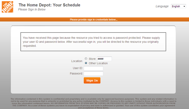 MyTHDHR View Your Schedule - Home Depot My Apron Login