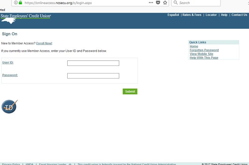 ncsecu member access secu login page