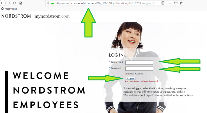 nordstrom employees login